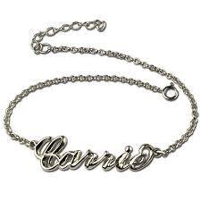 personalized name bracelets sterling silver women s name bracelet carrie style