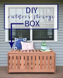 Plans To Build Outdoor Storage Bench by Diy Outdoor Storage Box The Chronicles Of Home