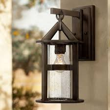 Rustic Outdoor Wall Lighting Argentine 17 High Clear Seedy Glass Outdoor Wall Light