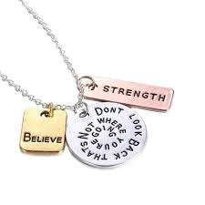 engraved necklaces engraved necklace with motivational message surewaydm