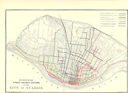 San Francisco Streetcar Map Streetcars In St Louis Wikipedia