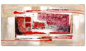 Tableau Abstrait Rouge Et Gris by Tableau Contemporain Rouge New Art Gallery