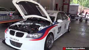 bmw e90 with a 2 3 l s14 inline four from a dtm race car engine