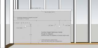 Standard Height Of Bathroom Vanity by Single To Double Sink Dwv In Condo Terry Love Plumbing U0026 Remodel