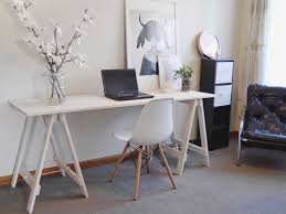 Diy Trestle Desk Diy Trestle Desk Mooch Style