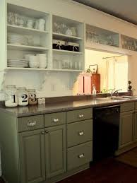 green base cabinets in kitchen give your kitchen a fresh look on a budget kitchen