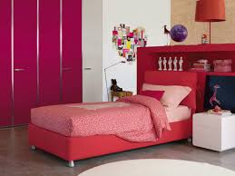 Modern Single Bed Designs With Storage Bedroom Decorating Adorable Comfy Red Modern Teenage Bedroom