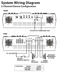 4 channel amplifier with subwoofer wiring diagram 4 wiring diagrams