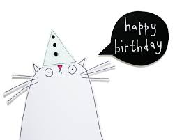 funny cat happy birthday card template birthday printable funny