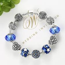 charm bracelet murano glass images Belawang blue murano glass bead charms bracelet for women silver jpg