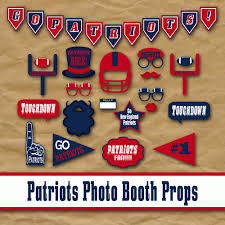 new england patriots football photo booth props and party