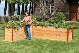 unique tall wooden outdoor garden planters for flower and fruit