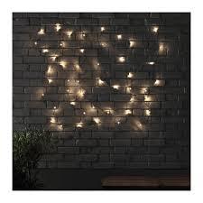 skruv led light chain with 48 lights ikea