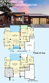 4000 square foot house plans one story plan 69113am ultra contemporary knockout modern house plans