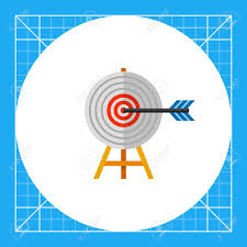 Challenge Success Target On Wooden Stand With Arrow Challenge Success Goal