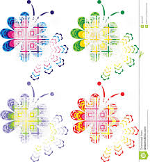 four color design of creative butterfly stock vector