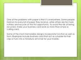Make A Calling Card - how to design a business card
