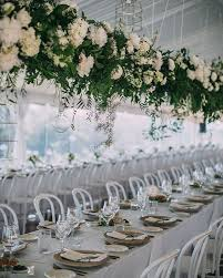 Wedding Flowers Greenery Wedding Greenery Decor With Hanging Lights U2014 The Bohemian Wedding