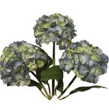 silk hydrangea artificial silk hydrangea flowers blue your own bouquet pyob
