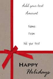 free christmas gift certificate template customize online u0026 download