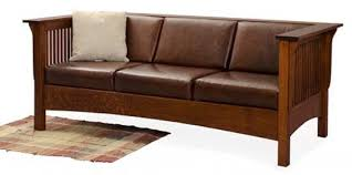 mission style leather sofa mission style upholstered furniture in oak maple or cherry plus