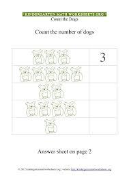 kindergarten math counting dogs kindergarten math worksheets org