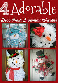 deco mesh ideas 4 adorable deco mesh snowman wreath ideas