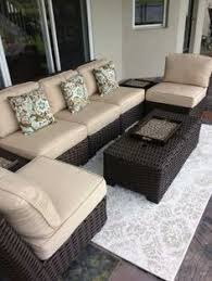 Allen And Roth Patio Chairs Allen Roth Blaney 6 Patio Sectional Conversation Set 2