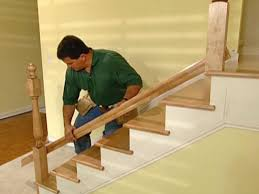Stair Banisters Railings How To Install New Stair Treads And Railings How Tos Diy