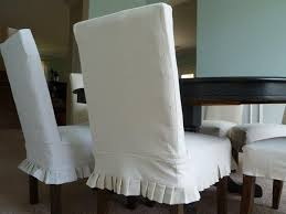 Slipcovers Dining Chairs White Slipcovered Chair Fascinating White Linen Slipcovered