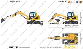 the blueprints com vector drawing caterpillar 305dcr mini