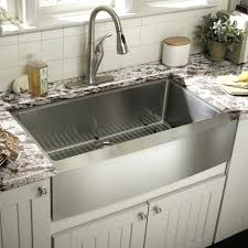 kitchen with apron sink other kitchen concrete apron sink stainless steel in double bowl