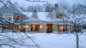 traditional american farmhouses in winter youtube