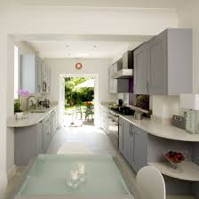 galley style kitchen ideas the layout of this galley style kitchen combines elegance with