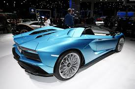 Lamborghini Aventador Top Speed - lamborghini aventador s roadster pops its top in frankfurt