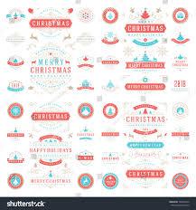christmas labels badges vector design elements stock vector