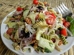 easy cold pasta salad cold rotini pasta salad with tomatoes and artichoke hearts easy