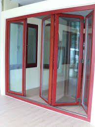 Wooden Bifold Patio Doors by Patio Framed Picture Hanged On Wall Beside Wooden Patio Door With