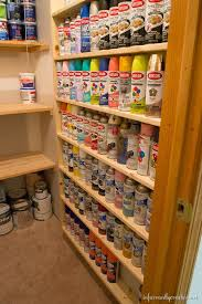 Wooden Storage Shelf Diy by Diy Spray Paint Shelf Holds 117 Cans Spray Paint Storage Paint
