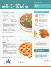 diabetes friendly thanksgiving recipes partners in care