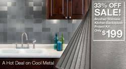 Aspect Peel And Stick Backsplash by June U201chot Deal On Cool Metal U201d Promotion For Backsplash Project Kits