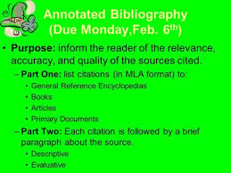 A Good Annotated Bibliography Free Download  A Good Annotated Bibliography  Free Download