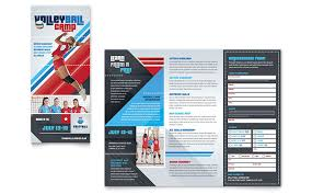volleyball camp brochure template word u0026 publisher