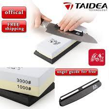 honing kitchen knives taidea kitchen knife sharpener 1000 3000 grit 3000 1000 oilstone