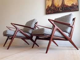 vintage selig z chair singular pair of danish mid century modern