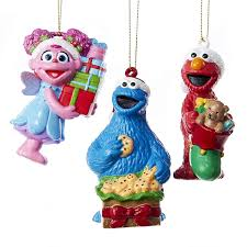 sesame street kurt adler blow mold ornament gift box
