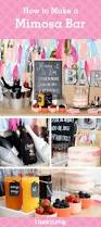 how to make a mimosa bar bridal shower ideas