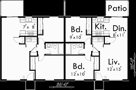 house plans one level ranch style duplex design house plan single level floor plan