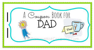 free father u0027s day printable coupon booklet from raining