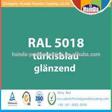 ral color ral 5018 turquoise blue powder coating powder paint